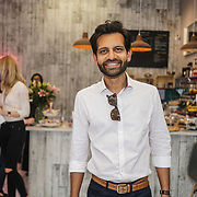 Shyamal Lallah sales manager skinny prosecco attends the Threads & Co Beauty launches permanent retail concept store everything from coffee to beauty to retail therapy on 24th May 2017. by See Li