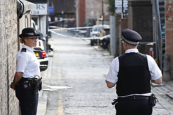 © Licensed to London News Pictures. 12/07/2019. London, UK. The scene in Purley, south London where a teenager was murdered and two other teenagers were injured, including the murder suspect, in a stabbing last night. Photo credit: Peter Macdiarmid/LNP