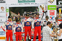 MOTORSPORT - WORLD RALLY CHAMPIONSHIP 2010 - RALLY BULGARIA / RALLYE DE BULGARIE - BOROVETS (BUL) - 08 TO 11/07/2010 - PHOTO : FRANCOIS BAUDIN / DPPI - <br /> SEBASTIEN LOEB (FRA) / DANIEL ELENA (MON) - CITROEN TOTAL RALLY TEAM - CITROEN C4 WRC - PODIUM - AMBIANCE DANI SORDO (SPA) / MARC MARTI (SPA) - CITROEN TOTAL RALLY TEAM - CITROEN C4 WRC - SOLBERG Petter / PATTERSON Chris - PETTER SOLBERG WORLD RALLY TEAM - CITRÖEN C4 WRC - ACTION CONGRATULARE BY SPORT MINISTER OF BULGARIA