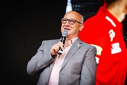 Bogdan Gabrovec president of slovenian Olimpic comitee during sprejem Tima Gajsreja, on Avgust 27, 2019 in Maribor, Slovenia. Photo by Blaž Weindorfer / Sportida