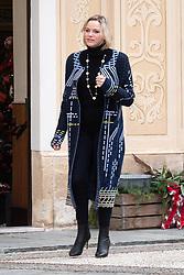 Princess Charlene of Monaco attends the Christmas Gifts Distribution At Monaco Palace on December 18, 2019 in Monaco, Monaco. Photo by David Niviere/ABACAPRESS.COM  | 713613_002 MONACO Monaco