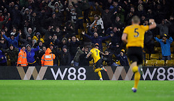 Wolverhampton Wanderers' Ivan Cavaleiro scores his side's second goal of the game during the Premier League match at Molineux, Wolverhampton.