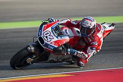 September 23, 2017 - AlcañIz, Teruel, Spain - 4 Andrea Dovizioso (Italian) Ducati Team Ducati in the free practice of the Gran Premio Movistar de Aragon, Circuit of Motorland, Alcañiz, Spain. Saturday, 23rd september, 2017. (Credit Image: © Jose Breton/NurPhoto via ZUMA Press)
