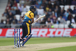 June 21, 2019 - Leeds, Yorkshire, United Kingdom - Kusal Mendis of Sri Lanka batting during the ICC Cricket World Cup 2019 match between England and Sri Lanka at Headingley Carnegie Stadium, Leeds on Friday 21st June 2019. (Credit Image: © Mi News/NurPhoto via ZUMA Press)