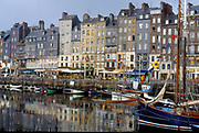 France, Normandy.  Honfleur.  The old harbour.