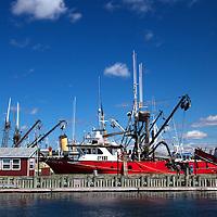 North America, Canada, Nova Scotia, Halifax. Fishing Boat in the Halifax harbor.