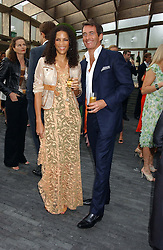 Actress and model VERONICA WEBB and TIM JEFFERIES at the annual Serpentine Gallery Summer Party co-hosted by Jimmy Choo shoes held at the Serpentine Gallery, Kensington Gardens, London on 30th June 2005.<br /><br />NON EXCLUSIVE - WORLD RIGHTS