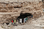 Bedouins living in natural caves, Near Petra, Jordan