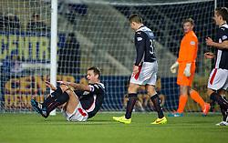 Falkirk's David McCracken celebrates after scoring their goal. <br /> Falkirk 1 v 0 Cowdenbeath, Scottish Championship game played 31/3/2015 at The Falkirk Stadium.