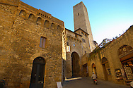 Medieval Tower around entrance - San Gimignano - Italy .<br /> <br /> Visit our ITALY PHOTO COLLECTION for more   photos of Italy to download or buy as prints https://funkystock.photoshelter.com/gallery-collection/2b-Pictures-Images-of-Italy-Photos-of-Italian-Historic-Landmark-Sites/C0000qxA2zGFjd_k<br /> If you prefer to buy from our ALAMY PHOTO LIBRARY  Collection visit : https://www.alamy.com/portfolio/paul-williams-funkystock/sangimignano.html