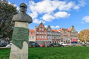 Bust of Captain Tadeusz ziolkowski (1886-1940), Gdansk, Poland