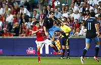 Fotball , 26. mai 2012 , Privatkamp , Norge - England 0-1<br /> Norway - England<br /> <br /> Leighton Baines , England<br /> Tarik Elyounoussi , Norge