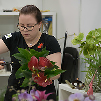 Participant competes in floristry during the EuroSkills European Championship of young professionals in Budapest, Hungary on Sept. 26, 2018. ATTILA VOLGYI
