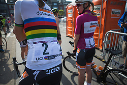 Chantal Blaak (NED) of Boels-Dolmans Cycling Team is ready for Liege-Bastogne-Liege - a 136 km road race, between Bastogne and Ans on April 22, 2018, in Wallonia, Belgium. (Photo by Balint Hamvas/Velofocus.com)