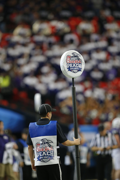 Dec 31, 2014; Atlanta , GA, USA; during the first quarter in the 2014 Peach Bowl at the Georgia Dome. Mandatory Credit: Paul Abell/CFA Peach Bowl via USA TODAY Sports