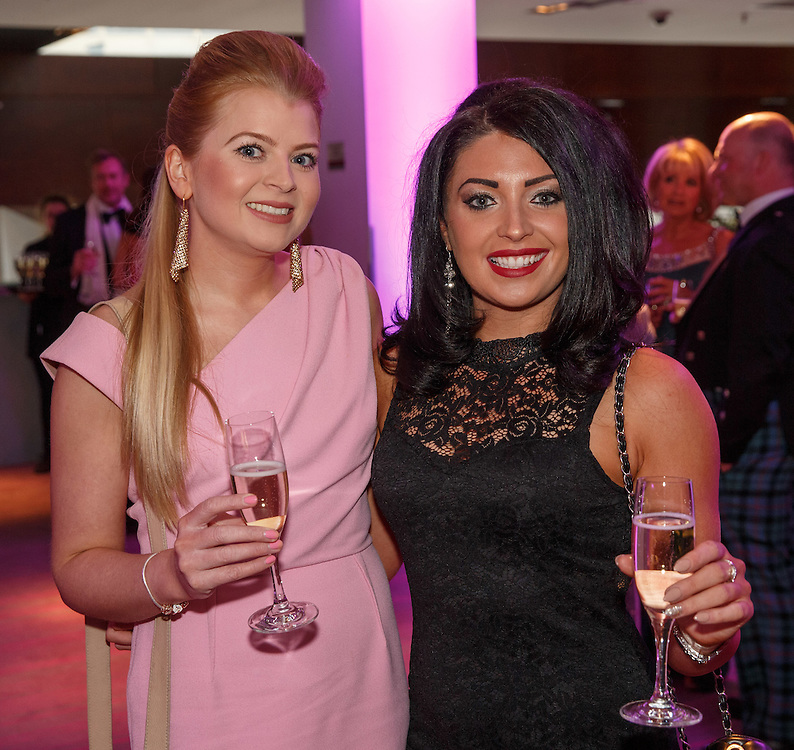 BNO Maggie's Spring Ball at Radisson Hotel Glasgow. L to R :  Joanna Robb and Nicola Leitch. Picture Robert Perry for The Herald and  Evening Times 23rd April 2016<br /> <br /> Must credit photo to Robert Perry<br /> <br /> FEE PAYABLE FOR REPRO USE<br /> FEE PAYABLE FOR ALL INTERNET USE<br /> www.robertperry.co.uk<br /> NB -This image is not to be distributed without the prior consent of the copyright holder.<br /> in using this image you agree to abide by terms and conditions as stated in this caption.<br /> All monies payable to Robert Perry<br /> <br /> (PLEASE DO NOT REMOVE THIS CAPTION)<br /> This image is intended for Editorial use (e.g. news). Any commercial or promotional use requires additional clearance. <br /> Copyright 2016 All rights protected.<br /> first use only<br /> contact details<br /> Robert Perry     <br /> 07702 631 477<br /> robertperryphotos@gmail.com<br />         <br /> Robert Perry reserves the right to pursue unauthorised use of this image . If you violate my intellectual property you may be liable for  damages, loss of income, and profits you derive from the use of this image.