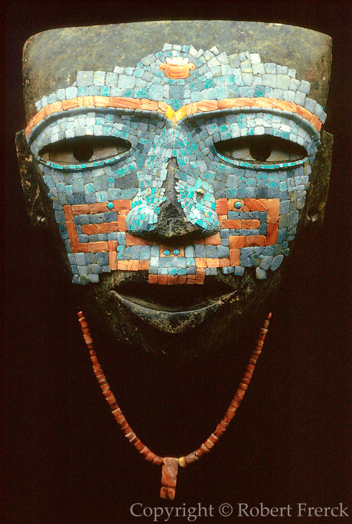 MEXICO, MEXICO CITY, MUSEUM Teotihuacan; inlaid funerary mask