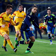 Fenerbahce's Diego (C) during their Turkish super league soccer match Fenerbahce between Kayserispor at the Sukru Saracaoglu stadium in Istanbul Turkey on Sunday 13 March 2016. Photo by TVPN/TURKPIX