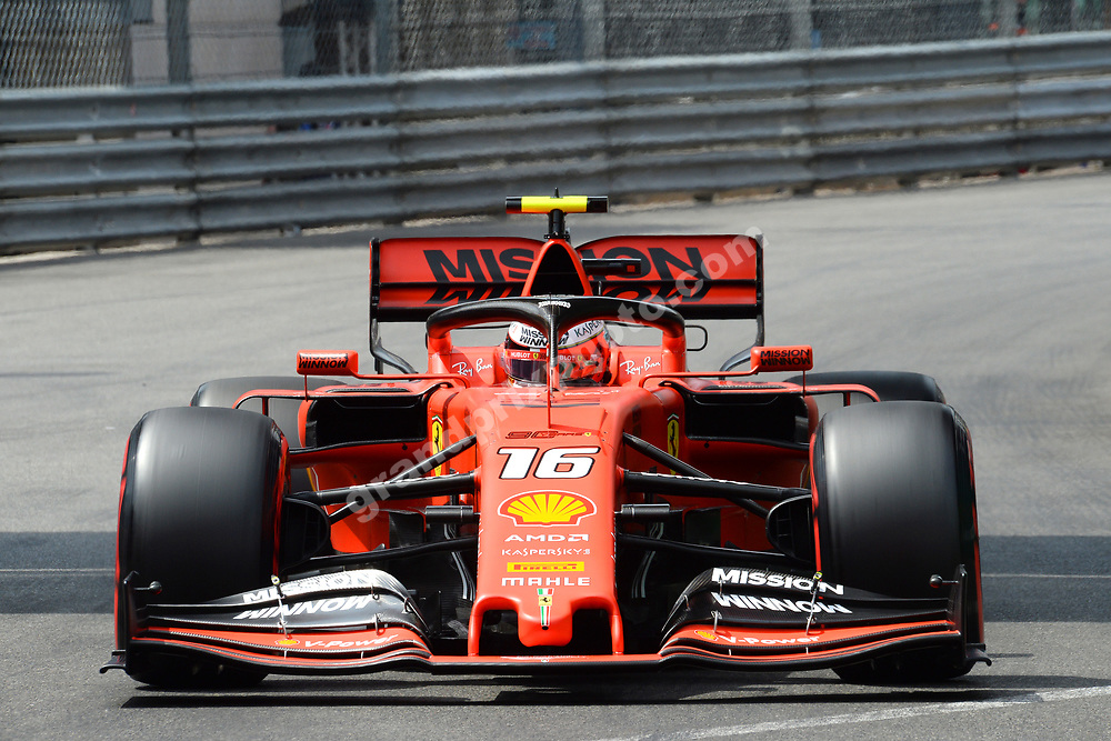 Charles Leclerc (Ferrari) during qualifying for the 2019 Monaco Grand Prix. Photo: Grand Prix Photo