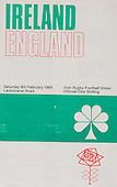 Rugby 1969 - 08/02 Five Nations Ireland Vs England