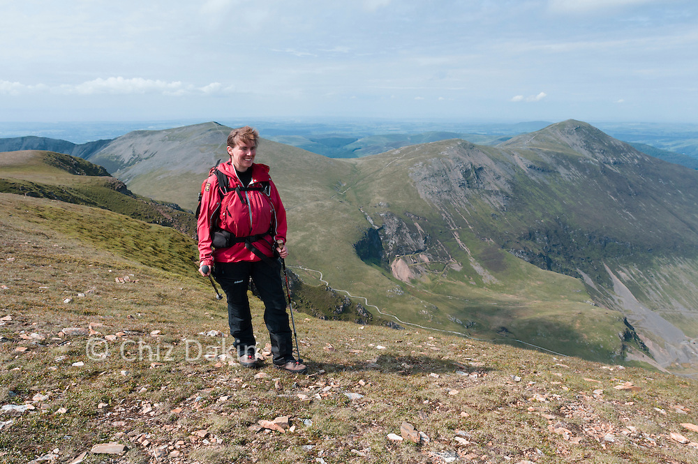 Near the trig point on Crag Hill, Hopegill Head and Grizedale Pike in the background