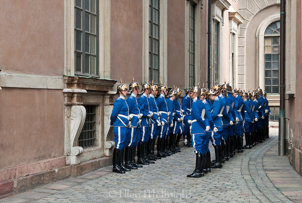 Changing of the Guard at the Royal Palace in Stockholm, Sweden