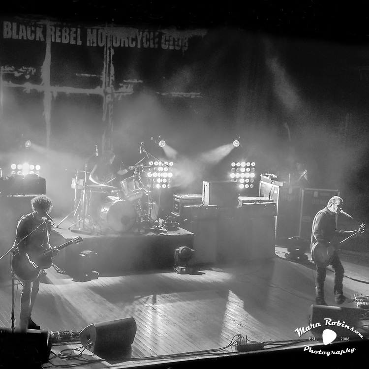 Black Rebel Motorcycle Club, BRMC, at Cleveland House of Blues concert photography by Akron music photographer Mara Robinson Photography