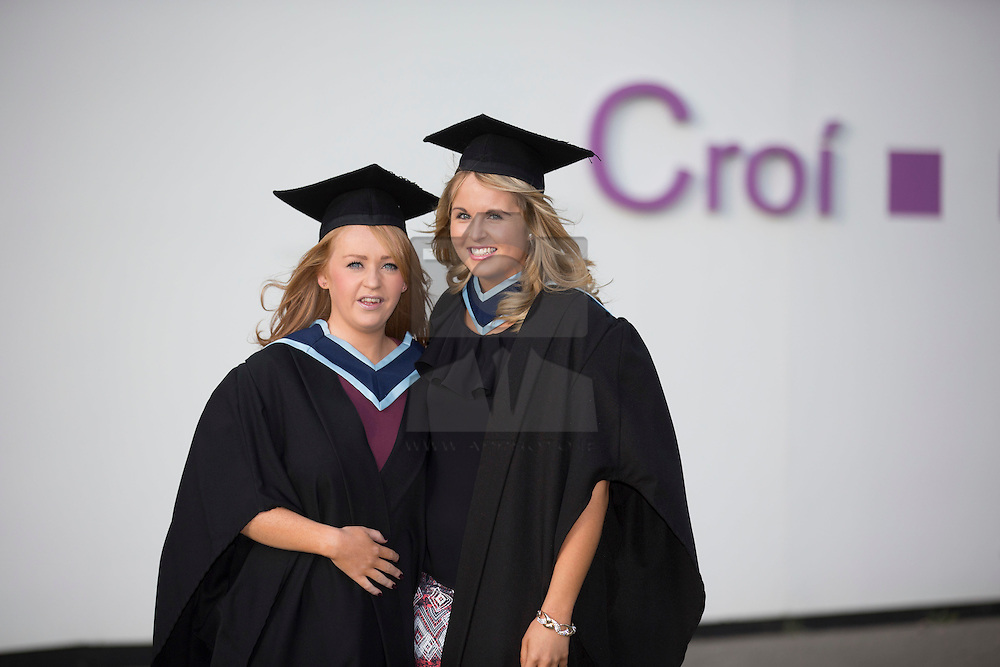 Lorraine Brady from Clonee and Orla Ladrigan from Dunboyne pictured at the Institute of Technology Blanchardstown (ITB) 2013 conferring ceremony. 2013 sees the largest number of students being conferred with awards at ITB with over 800 people receiving awards in areas like Mechatronic Engineering, Horticulture, Accounting and Finance, Early Childhood Care and Education and Information Security and Digital Forensics to name but a few. Picture Andres Poveda