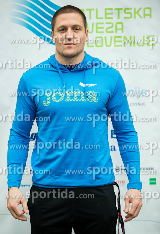 Martina Kranjc during press conference when Slovenian athletes and their coaches sign contracts with Athletic federation of Slovenia for year 2016, on February 25, 2016 in AZS, Ljubljana, Slovenia. Photo by Vid Ponikvar / Sportida