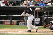 CHICAGO - JULY 10:  Gordon Beckham #15 of the Chicago White Sox bats against the Minnesota Twins on July 10, 2011 at U.S. Cellular Field in Chicago, Illinois.  The Twins defeated the White Sox 6-3.  (Photo by Ron Vesely)  Subject: Gordon Beckham
