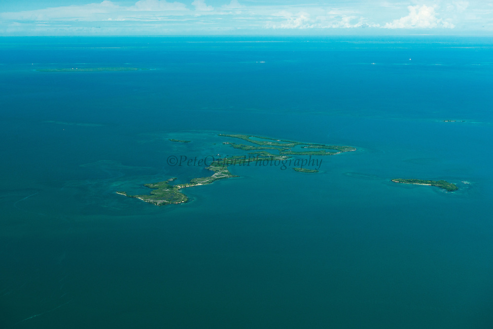 Horseshoe Caye,<br /> Aerial view<br /> Near Drowned Cayes<br /> Belize<br /> Central America