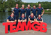 Caversham, Nr Reading, Berkshire.<br /> <br /> GBR M8+. Bacl Lto R, Scott DURANT, Andy TRIGGS HODGE< Will SATCH, Matt GOTREL, Paul BENNETT, fort left Tom RANSLEY, Pete REED Matt LANGRIDGE and Phelan HILL, Olympic Rowing Team Announcement  Press conference at the RRM. Henley.<br /> <br /> Thursday  09.06.2016<br /> <br /> [Mandatory Credit: Peter SPURRIER/Intersport Images] 09.06.2016,