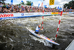 Apel Elena (GER) competes in Finals during Day 2 of 2018 ECA Canoe Slalom European Championships, on June 2nd, 2018 in Troja , Prague, Czech Republic. Photo by Grega Valancic / Sportida