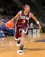 Texas A&M guard Takia Starks during first half action against Kansas State at Bramlage Coliseum in Manhattan, Kansas, January 6, 2007.  K-State upset the 17th ranked Aggies 48-45.