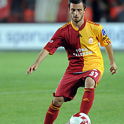 Galatasaray's Emre COLAK during their Turkish Super League soccer match Galatasaray between Antalyaspor at the AliSamiYen Stadium at Mecidiyekoy in Istanbul Turkey on Saturday 08 May 2010. Photo by TURKPIX