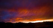 Summer sunset over the Cascades.