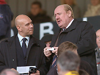Photo: Gareth Davies.<br />Fulham v Reading. The Barclays Premiership. 25/11/2006.<br />FA Chief Exceutive Brian Barwick (R) watches from the stands.