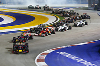 Start. VETTEL Sebastian (Ger) <br />  Formula One World Championship, Singapore Grand Prix from September 19th to 21th 2014 in Singapour.<br /> F1<br /> <br /> Norway only