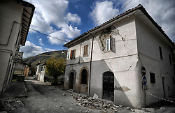 Earthquake in Valnerina. Pictured: Ussita. NO WEB *** *** *** NO DAILY
