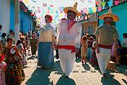 MEXICO, FIESTA DE ENERO Chiapa de Corso; Gigantes parade