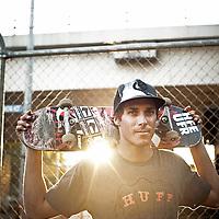 Skateboarder Kristian Phillip