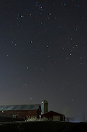 Campbell Hall, New York - Stars shin in the night sky above a barn on Dec. 14, 2012.