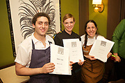 NEW YORK, NY - April 11, 2017: Chef Pati Jinich, joined by Chefs Rafael Zaga and Fany Gerson, presents a Mexican Seder for the second night of Passover at the James Beard House.<br /> <br /> Credit: Clay Williams for The James Beard Foundation<br /> <br /> © Clay Williams / http://claywilliamsphoto.com