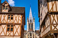 France, Côte-d'Or (21), Paysage culturel des climats de Bourgogne classés Patrimoine Mondial de l'UNESCO, Dijon, église Notre Dame // France, Burgundy, Côte-d'Or, Dijon, Unesco world heritage site, Notre Dame Church