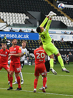 Football - 2020 /2021 EFL Championship - Swansea City vs Birmingham City <br />      <br /> Neil Etheridge of Birmingham parries he ball <br /> in a match played without fans at the Liberty Stadium<br /> <br /> COLORSPORT/WINSTON BYNORTH