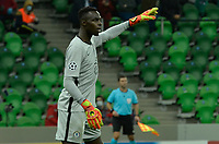 KRASNODAR, RUSSIA - OCTOBER 28: Édouard Mendy of Chelsea during the UEFA Champions League Group E stage match between FC Krasnodar and Chelsea FC at Krasnodar Stadium on October 28, 2020 in Krasnodar, Russia. (Photo by MB Media)