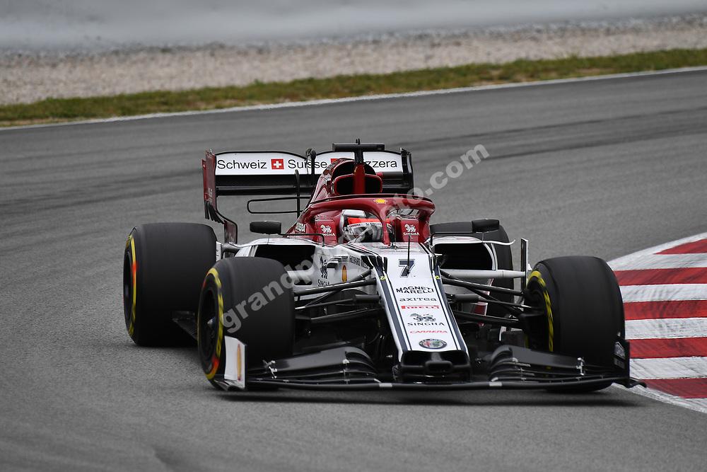 Kimi Raikkonen (Alfa Romeo-Ferrari) during practice for the 2019 Spanish Grand Prix at the Circuit de Barcelona-Catalunya. Photo: Grand Prix Photo