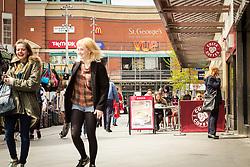 St George's shopping centre, Harrow, north west London UK