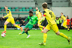 Julius Wobay of NK Olimpija during football match between NK Olimpija Ljubljana and NK Kalcer Radomlje in Round #29 of Prva liga Telekom Slovenije 2016/17, on April 17, 2017 in SRC Stozice, Ljubljana, Slovenia. Photo by Vid Ponikvar / Sportida