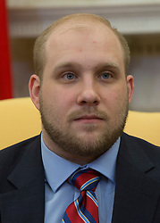 Joshua Holt participates in a meeting with U.S. President Donald Trump, members of his family and the congressional delegation of Utah at the U.S. at The White House in Washington, DC, May 26, 2018. Holt, was released from prison in Venezuela following diplomat efforts by the Obama and Trump administrations. Credit: Chris Kleponis / CNP